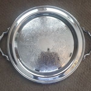 "ONEIDA 14.5"" Silver plate Serving Tray Dish"